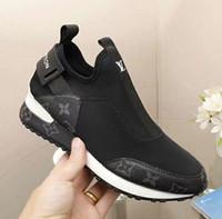 ingrosso scarpe da ginnastica nere-hot new zz Party Wedding Shoes da donna in camoscio nero con punte basse nere sneakers basse, scarpe causali di design Taglia 35-45