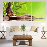 Wholesale wall art buddha painting for sale - Group buy 3 Hotoke Buddhism Buddha HD Printed Canvas Prints Painting Wall Pictures For Living Room Wall Art No Frame