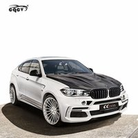 Wholesale bmw bumpers for sale - Group buy Perfect fitment FRP material HM style wide body kit for BMW X6 F16 front bumper rear bumper side skirts fender wing spoiler