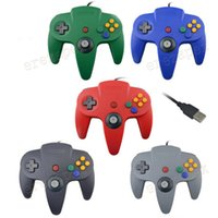 Wholesale 64 game system for sale - Group buy USB Long Handle Game Controller Pad Joystick for PC Nintendo N64 System Color in stock