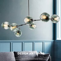 Wholesale switch stores for sale - Group buy Nordic branches wrought iron pendant lamp post modern clothing store model room creative personality glass molecular chandelier