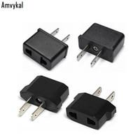 adaptadores elétricos universais venda por atacado-Amvykal Internacional Universal UE Para EUA Plug Adapter Converter EUA América Carregador de Viagem AC Power Plugue Tomada Adaptador Elétrico
