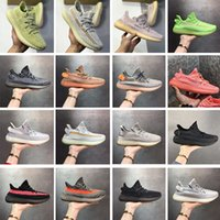 zapatillas negro rosa al por mayor-Con la caja Stock X Shoes Antlia Pink Black Static V2 Zapatos para correr para mujer para hombre Kanye West Hyperspace Clay Designer Loafers Entrenadores US5-13