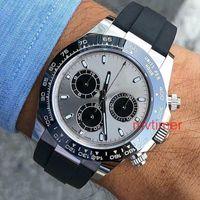 relógio de luxo vencedor venda por atacado-Pulseira de borracha Ásia 2813 Rose Gold Cinza 116519 LN Luxo Mens Relógio Automático Moda Casual Relógios Reloj Relógios De Pulso