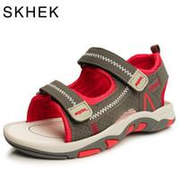 baby rote sandale großhandel-Summer Beach Kinderschuhe Baby Sandalen Für Jungen Und Mädchen Designer Kleinkind Sandalen Für 4 - 15 Jahre Kinder Rot Grün Blau Y190525