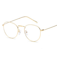 e1abb6a2f8 Anti Blue Light Glasses 2019 Spectacle Frames Computer Goggles Eyeglasses  Frame Women Round Clear Lens Fake Glasses