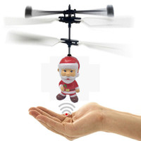 Wholesale remote fly ball for sale - Group buy Novelty Toys Santa Claus Pattern Induction Toy Aircraft Flying Ball Novel Suspension Remote Control Toy Aircraft for Kids