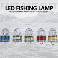 calamar pesca cebo luz led al por mayor-LED de pesca submarina de diamantes profundos luz intermitente cebo señuelo calamar estroboscópico popular lámpara de peces de aguas profundas ZZA418