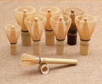 buzo de té al por mayor-Más estilo Bambú Natural Té Chasen Profesional Matcha Té Batidor Ceremonia del té Herramienta Cepillo Caja Chasen