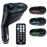 modulador de luz venda por atacado-Hot Car Kit MP3 Player Transmissor FM Sem Fio Modulador wma sem fio USB SD MMC LCD Com Luz Remota
