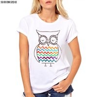 Wholesale cute owl paintings for sale - Group buy cotton Summer fashion popular Hand painted Owl printed T shirt women summer t shirt brand fashion white shirt cute animal tops