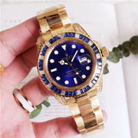 Wholesale stainless steel discoloration resale online - Factory Hot Wristwatches Sapphire Black Ceramic Bezel Stainless Steel mm Automatic Mechanical Mens Men Watch Watches rolex
