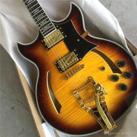 Wholesale high quality guitars factory for sale - Group buy Factory direc New style high quality custom L Jazz electric guitar hollow body jazz F hole electric guitar guitars guitarra