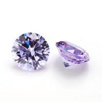 diamantes sueltos redondos al por mayor-Alta calidad 100 PC / bolso 5 mm claro corte redondo de 15 colores 5A Gemas de óxido de circonio cúbico diamantes flojo de los granos de la piedra preciosa para el envío libre de bricolaje