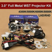 Wholesale hid lamps for cars resale online - 3 Inches Metal HID Bi Xenon Projector Lens Kit ZKW Mask LHD RHD W V H1 xenon lamp K K for Car Headlight H4 H7