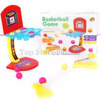basketball schuss spielzeug großhandel-Kinderspielzeug mini basketball spielzeug basketballständer indoor outdoor eltern-kind-familie spaß tischspiel spielzeug basketball schießspiele