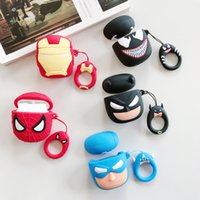 Wholesale 3d batman case cover for sale – best Cute League of legends Cartoon D silicone earphone case For Apple airpods Protective Cover Superman Batman Spiderman simple opp