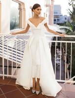 Wholesale modern elegant dresses white for sale - Jumpsuit Evening Dress Long Train White Prom Dresses Off Shoulder Sweep Train Elegant Evening Dress Party Zuhair Murad Dress Vestidos Festa