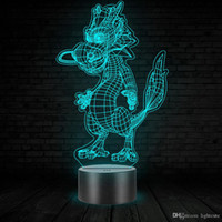Wholesale chinese girls toys for sale - Group buy Chinese Dragon D illusion Lamp Touch Colors Change LED Lamp Kids Toy Birthday Gift Room Decor Kids Birthday Gift Boy Girl Kids Toy Theme