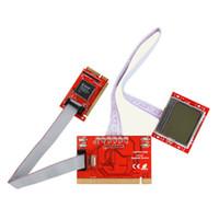 teşhis kartları toptan satış-Fabrika fiyatı! Yeni PC Mini PCI-E PCI LPC Teşhis Kartpostal PC Analyzer Tester LCD kartpostal pti8 pc tester