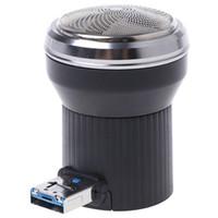 mini afeitadora de viaje al por mayor-Venta caliente Creative Shaver eléctrica Mini USB portátil Power Plug Travel Beard Trimmer Razor