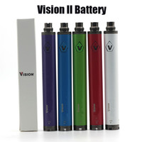 переменная spinner оптовых-Vision Spinner 2 Battery Evod Twist 3.7 V--4.8 V Vision II Battery переменное напряжение для 510 Thread Atomizer Бесплатная доставка