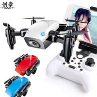 hd fpv kameralar toptan satış-S9 Hd Kamera Değil Katlanır Rakım Helikopter olmadan S9hw Mini Wifi Drone Fpv Mikro Cep Rc Quadcopter Drone