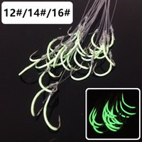 60pcs 12# 14# 16# Luminous Maruseigo Hook (With Fishing Lines) High Carbon Steel Barbed Fishing Hooks Fishhooks I-013