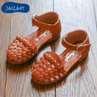 Wholesale soft leather comfort shoes resale online - JOLENE Brand Summer New Princess Sandals Children s Flat Shoes Girls Closed Toe Sandal Toddler Shoes Comfort Beach Sandals