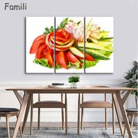 birnen bild großhandel-3 Stück Wandkunst Malerei Birne In Korb Bild Druck auf Leinwand Essen Das Bild Home Decor Oil Prints