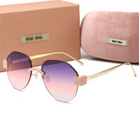 ingrosso occhiali aviatore per le donne-Nuove donne di moda di lusso oversize Designer Occhiali da sole aviator Occhiali da sole di guida occhiali telaio ellisse Occhiali da sole senza montatura -13