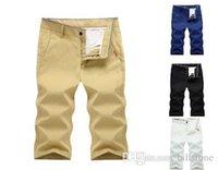 pantalones de moda pantalones al por mayor-Pantalones casuales para hombres 2018 nuevos pantalones rectos de moda de verano pantalones cortos de algodón para hombres Pantalones cortos de playa pantalones calzones