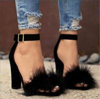zapatos de baile de boda al por mayor-2019 Zapatos de verano para mujer T-stage Fashion Dancing Sandalias de tacón alto Sexy Stiletto Party Wedding Shoes Brown Negro