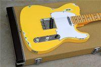 guitarra arca telecaster al por mayor-Fábrica libre del envío tienda personalizada 2016 Nueva telecaster madera amarilla MAPLE diapasón 6 cuerdas guitarras eléctricas