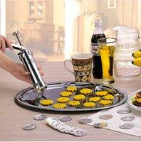 biscuit press maker venda por atacado-Vendas!!! Frete grátis Por Atacado Cookie extrusora Press Machine Biscuit Maker Fazendo Bolo Set Decoração