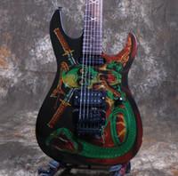 floyd stieg großhandel-Starshine CC-KL E-Gitarre SkullSnake Top Floyd Rose Bridge Pull / Push Swtich