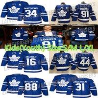 çocuk hokeyi mayo toronto toptan satış-Toronto Maple Leafs Çocuklar (Gençlik) Jersey 91 John Tavares 34 Auston Matta 16 Mitchell Marner 88 William Nylander Hokeyi Formalar