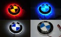 rote rückleuchten großhandel-8,2 cm bmw e46 e39 e60 e36 e90 f30 f20 f10 e30 e34 e38 e53 e87 x5 e53 e70 e83 4d logo abzeichen led emblem licht lampe