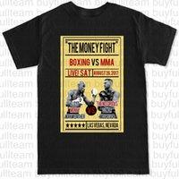 mma fight tops al por mayor-MCWEATHER CARTEL BOXEO MCGREGOR Mayweather RETRO MMA FIGHT gimnasia de los deportes para hombre Negro de manga corta Tops camisetas de la moda Tamaño S M L XL 2XL 3XL