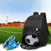 equipo de bolsas de fútbol al por mayor-Hombro deportes al aire libre Bolsa Equipo Mochila Con Baloncesto Voleibol Fútbol Fútbol bolsillo Training Bolsos de tela 30