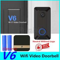 Wholesale wireless intercoms camera resale online - EKEN V6 WIFI Smart Doorbell P with Chime Video Visual Intercom Cloud Storage Wireless Home Security Camera