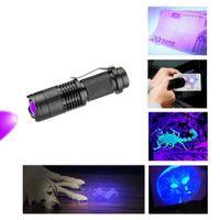 Wholesale marker lights for sale - 395 nm Led UV Flashlight Torch Light Ultra Violet Light Blacklight UV Lamp For Marker Checker Detection