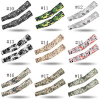 Wholesale arms warmer cycling resale online - Sports Arm Sleeves Tactical Basketball Camo Quick Dry UV Protection Running Elbow Pad Fitness Armguards Cycling Arm Warmer men