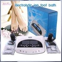 очищающая стопа для ног оптовых-Не облагаемый налогом High Tech Двойной электронный lon Cleanse Detox Foot Spa High Ionic Cleaner Детокс медицинский уход Массаж Спа