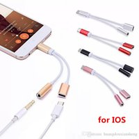 Wholesale charger connector types online – 2 in Charger And Audio Type c Earphone Headphone iphone Jack Adapter Connector Cable mm Aux Headphone For smartphone p XS max