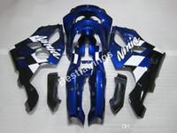 zx6r plásticos azul venda por atacado-Kit de carenagem de plástico de alta qualidade para Kawasaki Ninja ZX6R 1994 1995 1996 1997 carenagem em azul profundo ZX6R 94 95 96 97 MT06