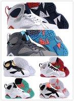 n7 basketbol ayakkabıları toptan satış-Ucuz bebek Çocuk 7 Basketbol Ayakkabı gençlik erkek kız 7 s VII Mor UNC Bordo Olimpiyat Panton N7 Zapatos Trainer Çocuk Spor Ayakkabı Sneaker