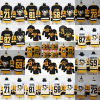 jersey sidney al por mayor-87 Sidney Crosby Pittsburgh Penguins Stadium Series 2019 Camisetas alternativas Evgeni Malkin Kris Letang Jake Guentzel Phil Kessel Hornqvist