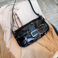 Wholesale patchwork shoulder bag pattern for sale - Group buy Designer designer handbags shinning luxury bag FF pattern women s shoulder bag fashion women s tots purse cross body bag