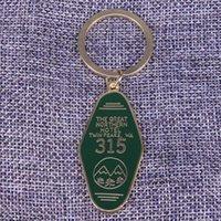 imprimir cobre venda por atacado-Twin Peaks keychain O Grande Quarto Do Hotel Do Norte 315 chaveiro filme de terror inspirado jóias de ouro verde impresso keytag